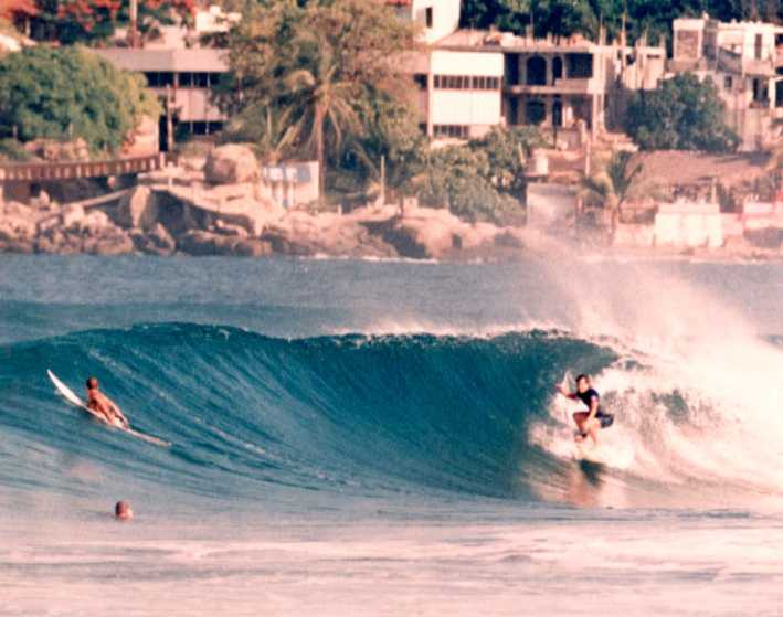 photo of Clif surfing