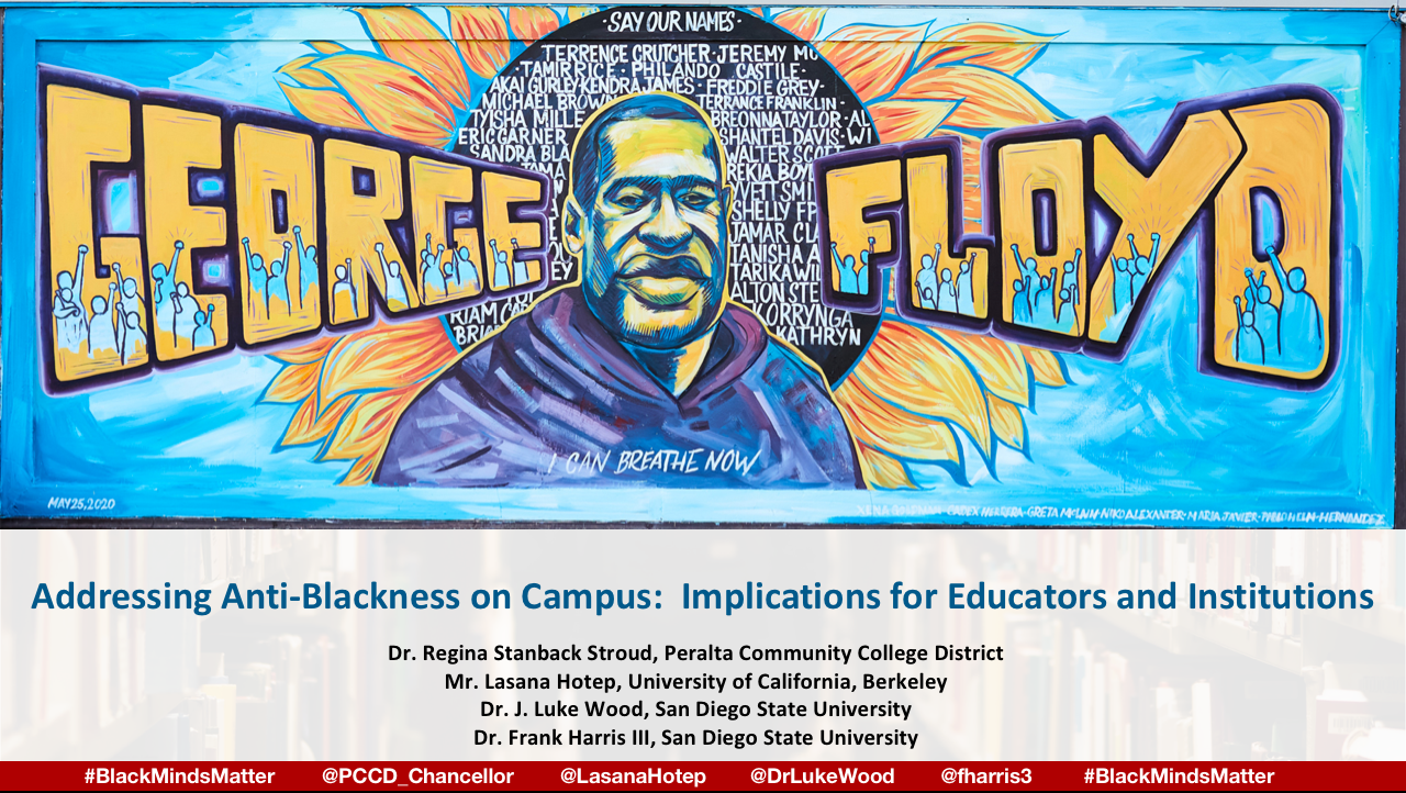 Addressing Anti-Blackness Webinar flier