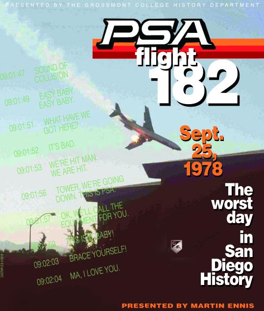 PSA Flight 182 crash commemoration flier