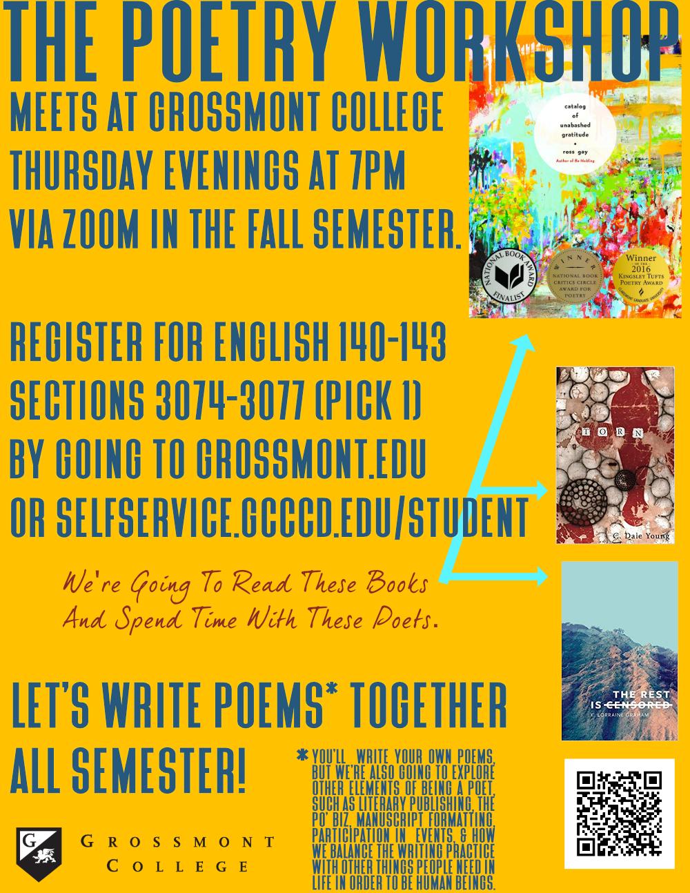 Fall 2021 Poetry Workshop