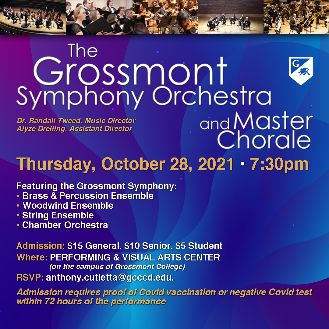 Grossmont Symphony Orchstra Concert Poster