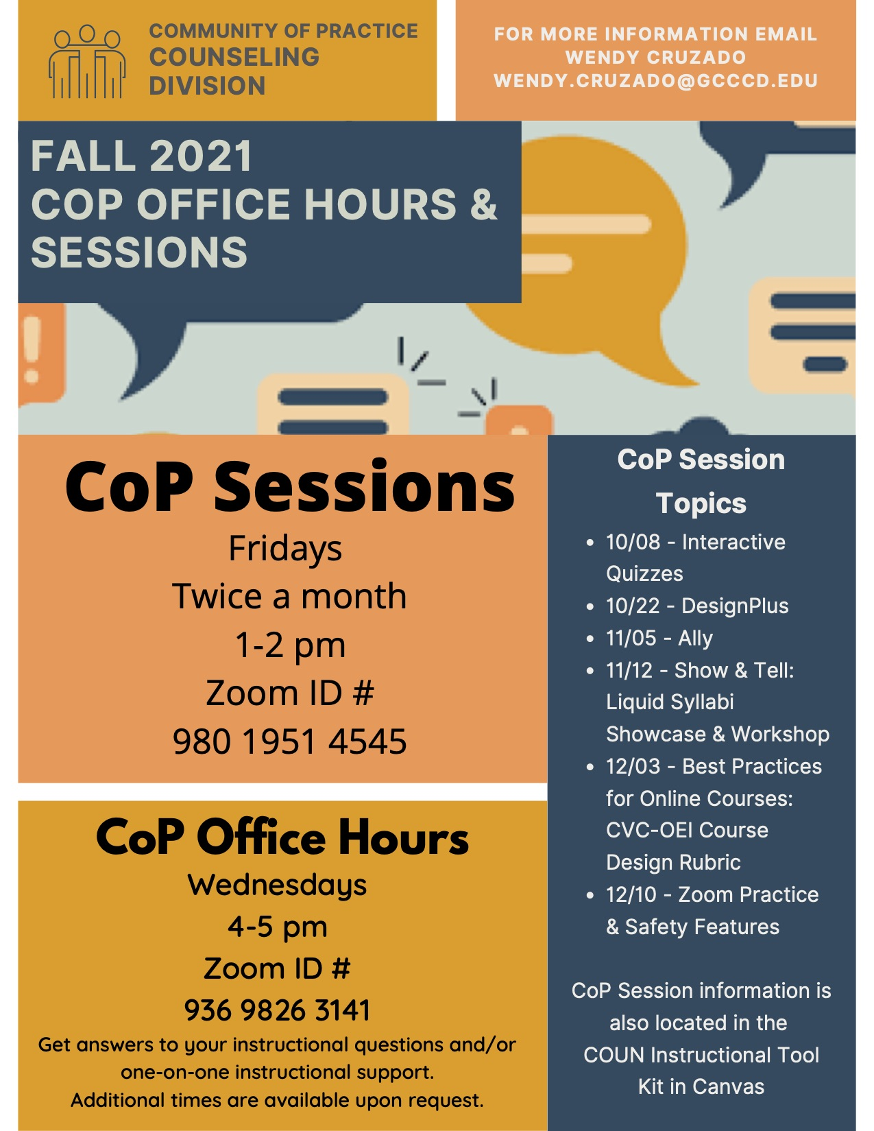 Fall 2021 Counseling CoP Flyer